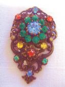 Bohemian Filigree Dress Clip with Floral Decoration -  1920 - 1930 (Sold)
